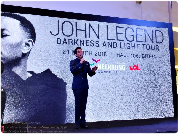 John Legend Darkness and Light Tour in Bangkok March 23